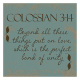 Colossians 3-14 Posters by Taylor Greene