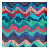 Cool Chevrons B Prints by Cynthia Alvarez