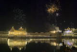 Fireworks Decorate the Skies over the Illuminated Golden Temple, the Most Sacred Place for Sikhs Photographic Print by Raminder Pal Singh