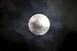 View of the Moon as it Enters its First Penumbral Eclipse Seen from Manila Photographic Print by Dennis M. Sabangan