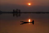 The Sun Sets over Dal Lake in Srinagar, the Summer Capital of Indian Kashmir Photographic Print by Farooq Khan