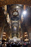 An Orthodox Easter Mass at Volodymir Cathedral in Kiev Photographic Print by Sergey Dolzhenko