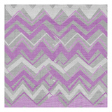 Orchid Gray Stripes 2 Prints by Diane Stimson