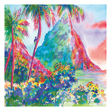 St. Lucia Rainbow Square Poster by Anne Ormsby
