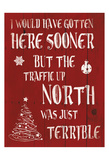 Holiday Traffic Print by Jace Grey