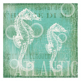 Teal Seahorse Posters by  Ophelia & Co.
