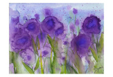 Purple Wildflower Meadow Poster by Beverly Dyer