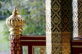 A Detail of the New Thai Pavillon During its Official Inauguration in Lausanne Photographic Print by Jean-Christophe Bott