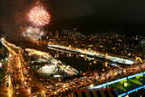 Fireworks Display over Gangneung, Gangwon Province, South Korea Photographic Print