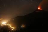 General View of Volcano Tungurahua in Cotalo Photographic Print by Carlos Campana