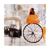 Riding with Marcel Giclee Print by Clayton Rabo