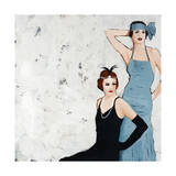 Flappers Giclee Print by Clayton Rabo
