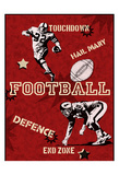 Football Print by Tony Pazan