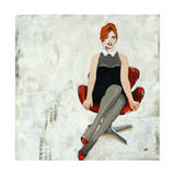 Red Chair Giclee Print by Clayton Rabo