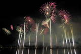 Fireworks Illuminate the Sky in the Bay of Geneva, Switzerland Photographic Print by Martial Trezzini
