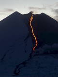 A View of the Eruption of the Llaima Volcano Photographic Print by Victor Rojas