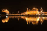 A Night View of the Iluminated Golden Temple Photographic Print by Raminder Pal Singh