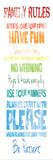 Family Rules Rainbow Posters av Jace Grey
