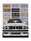 BMW Giclee Print by Clayton Rabo