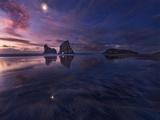 Golden Bay Moonrise Photographic Print by Yan Zhang