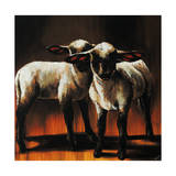 1 Sheep 2 Sheep Giclee Print by Sydney Edmunds