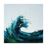 Seafoam Wave Giclee Print by Sydney Edmunds