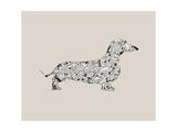 Gravhund Giclée-tryk af Louise Tate