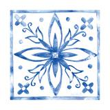 Tile Stencil I Blue Affiches par Anne Tavoletti