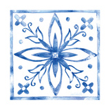 Tile Stencil I Blue Prints by Anne Tavoletti
