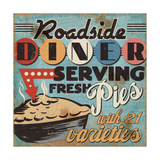 Diners and Drive Ins II Giclee Print by  Pela
