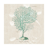 Gorgonia Granulata on Linen Sea Foam Sq Art by Wild Apple