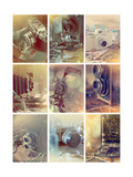 Vintage Cameras Giclee Print by Ian Winstanley