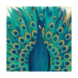 Proud as a Peacock I Giclee Print by Veronique Charron