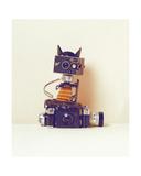 Robot Cat Giclee Print by Ian Winstanley