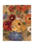 Jacquard Floral I Crop Premium Giclee Print by Silvia Vassileva