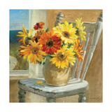 Sunflowers by the Sea Crop Giclée-Premiumdruck von Danhui Nai