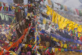 Colorful Flags, Bhutan Photographic Print by Art Wolfe