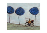Freewheelin' with Joyce Greenfields and the Felix 3 Lámina giclée por Sam Toft