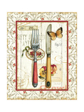 Rose Garden Utensils I Red Posters by Lisa Audit
