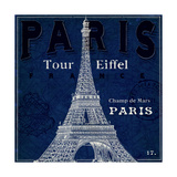 Blueprint Tour Eiffel Art by Sue Schlabach