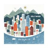 Colorful Los Angeles Plakat af Michael Mullan