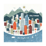 Colorful Los Angeles Print by Michael Mullan