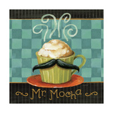 Cafe Moustache V Square Print by Lisa Audit