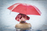 Red Umbrella Photographic Print by Marco Carmassi