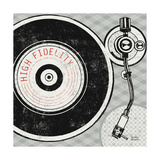Vintage Analog Record Player Posters por Michael Mullan