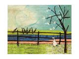 Doris and the Birdies Reproduction procédé giclée par Sam Toft