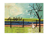 Doris and the Birdies Giclee Print by Sam Toft