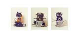 Camera Robots Triptych Giclee Print by Ian Winstanley