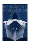 Passage Atlantique Blueprint Premium Giclee Print by Hugo Wild
