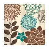 Abstract Garden Blue I Prints by Veronique Charron